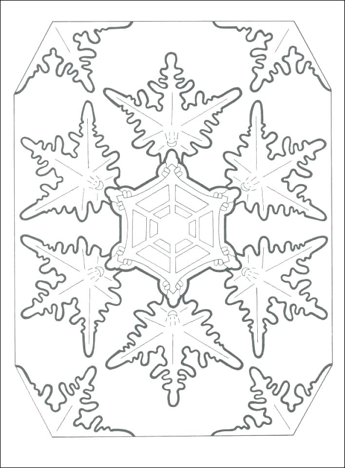 708x960 Printable Snowflake Coloring Pages