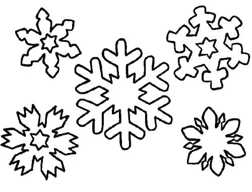 500x382 Snowflake Coloring Pages