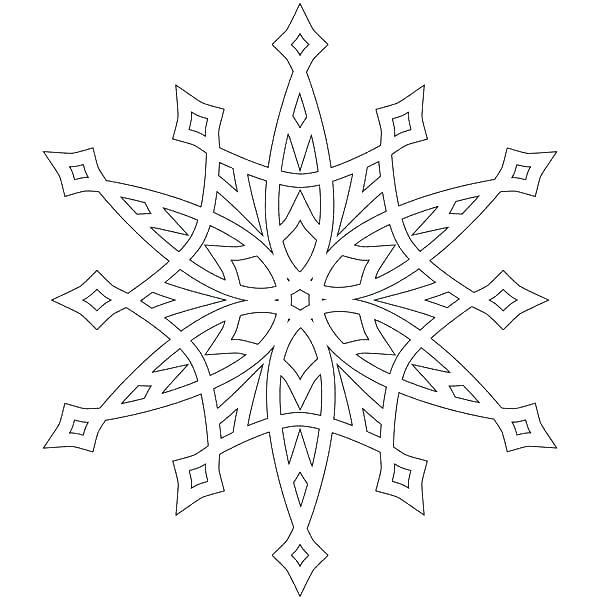 600x600 Snowflakes Coloring Page
