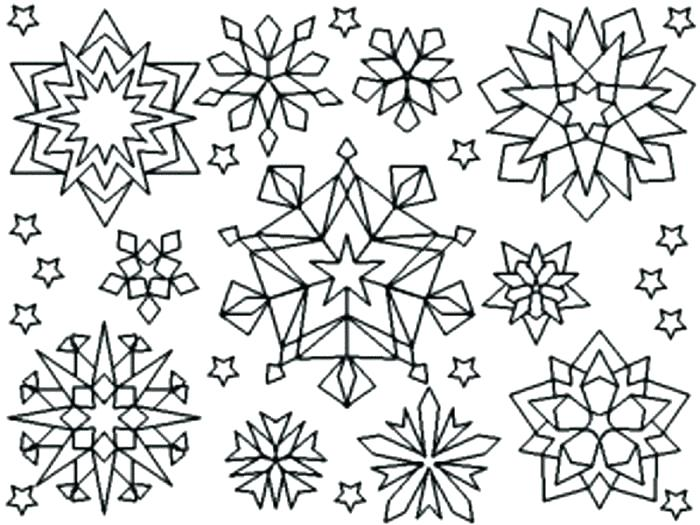 700x525 Snowflakes Coloring Pages