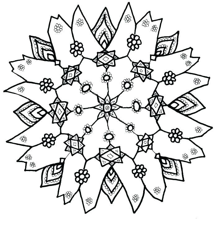 700x728 Coloring Pages Wonderful Snowflakes Printable Printable Diamond