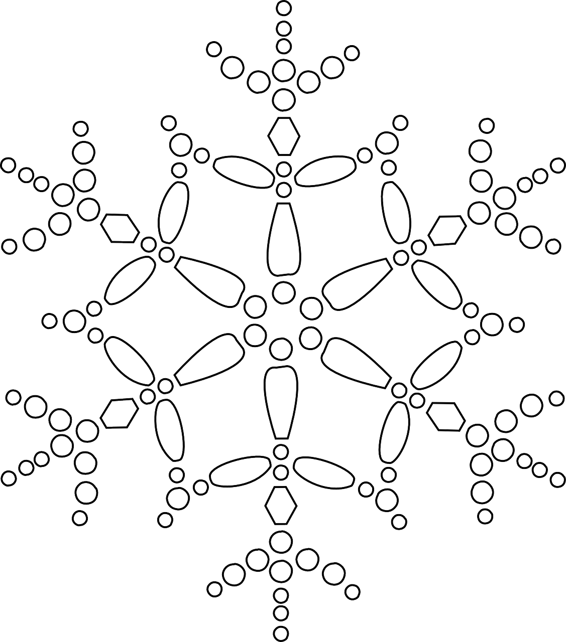 1127x1280 Easy Pointillism Coloring Pages Snowflake Colouring Pictures