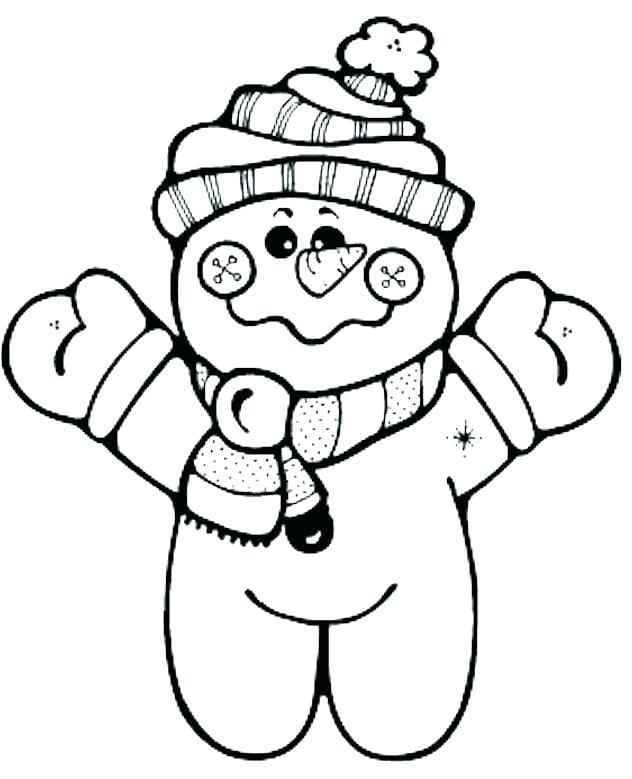 632x779 Coloring Page Snowman Making Snowman Coloring Pages For Kids