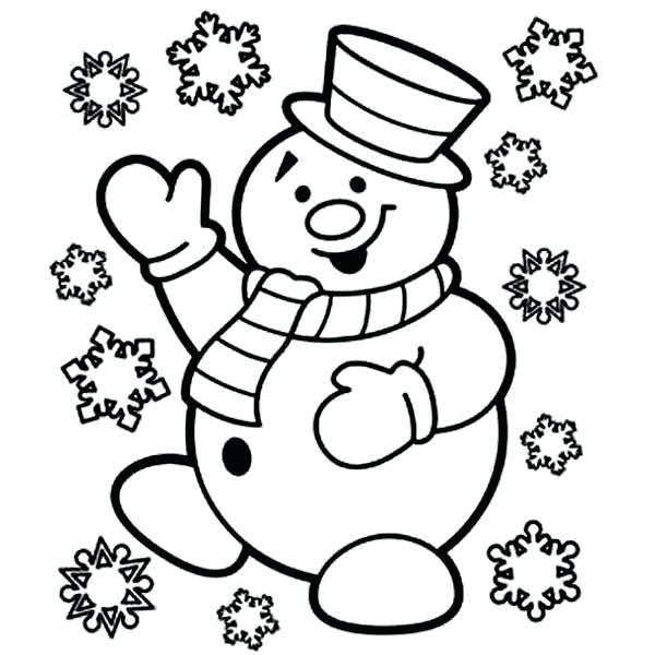 600x600 Easy Snowman Coloring Pages As Well As Snowman Is Skiing