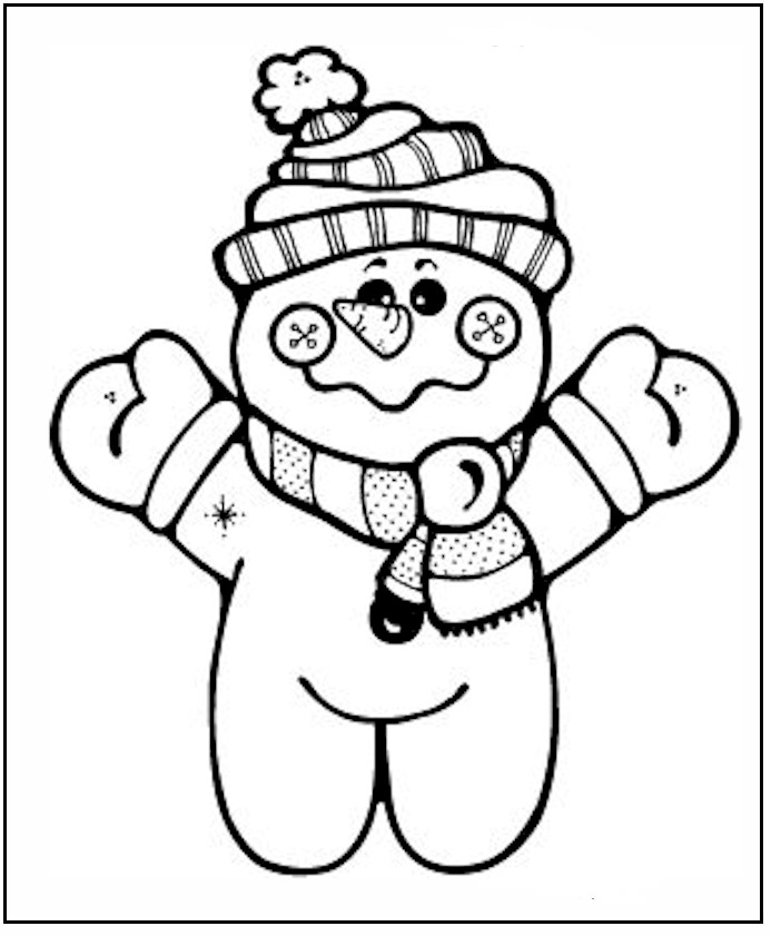 693x841 Free Printable Snowman Coloring Pages For Kids