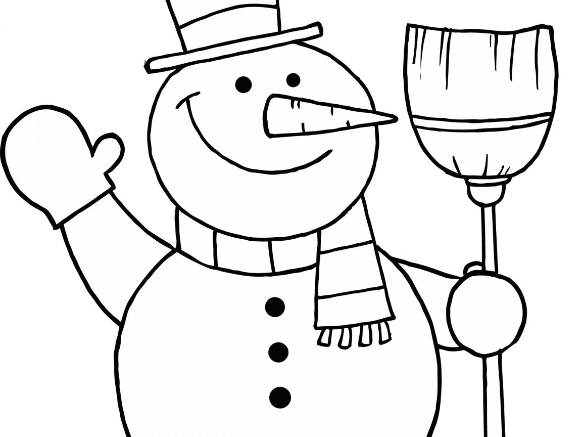 1152x864 Frosty Snowman Coloring Page Free Printable Pages For Kids Adults
