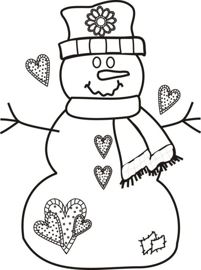 761x1024 Peppa And Rebecca Are Making Snowman Coloring Page Pages Printable