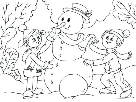 580x435 Snow Man Coloring Page Snowman Coloring Pages Crayola