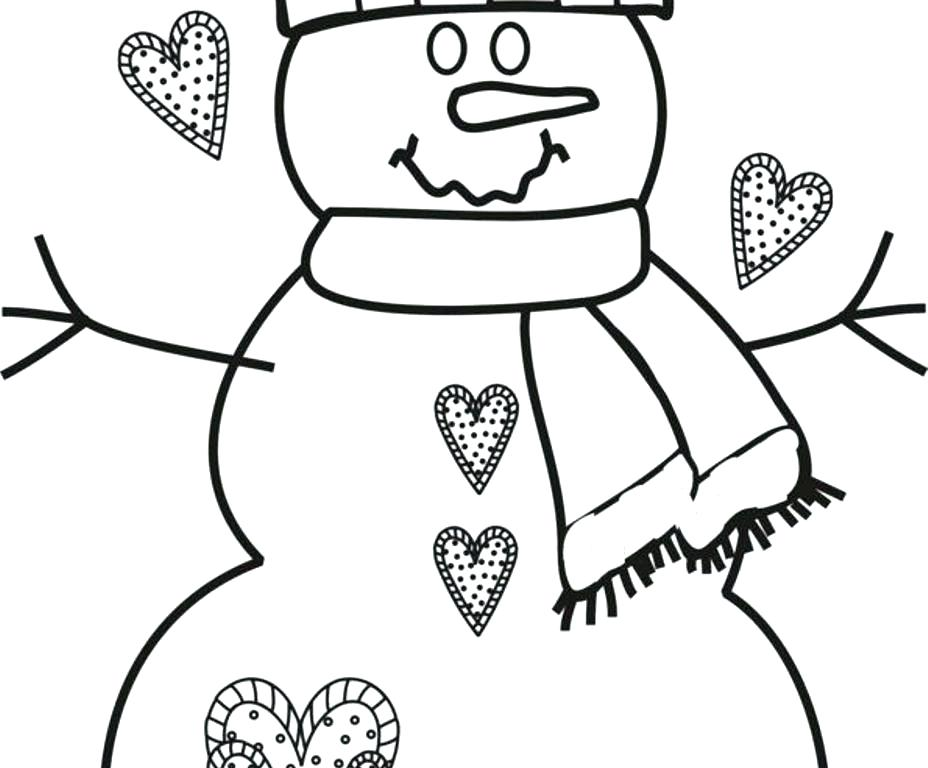 928x768 Snowman Coloring Page For Kids Snowman Coloring Pages For Kids