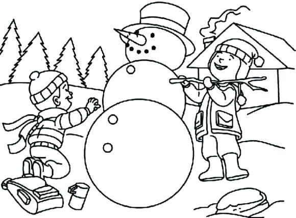 580x428 Coloring Page Snowman Coloring Page Snowman Making Snowman