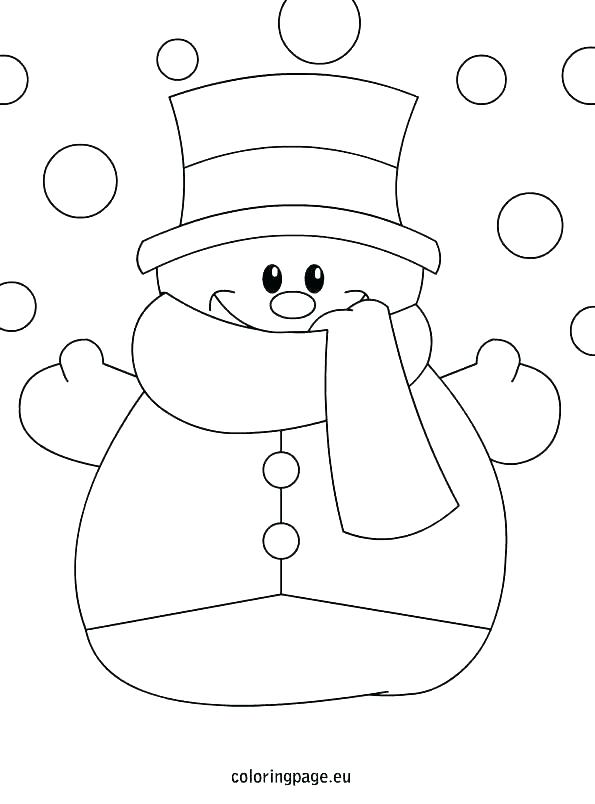 595x804 Coloring Page Snowman Making Snowman Coloring Page Coloring