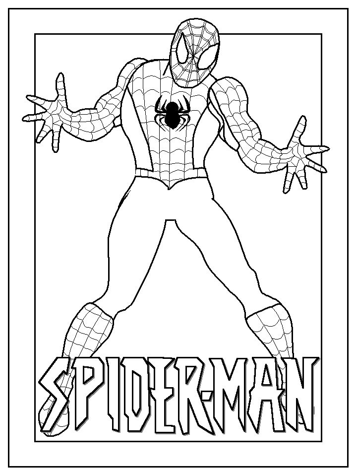 Easy Spiderman Coloring Pages
