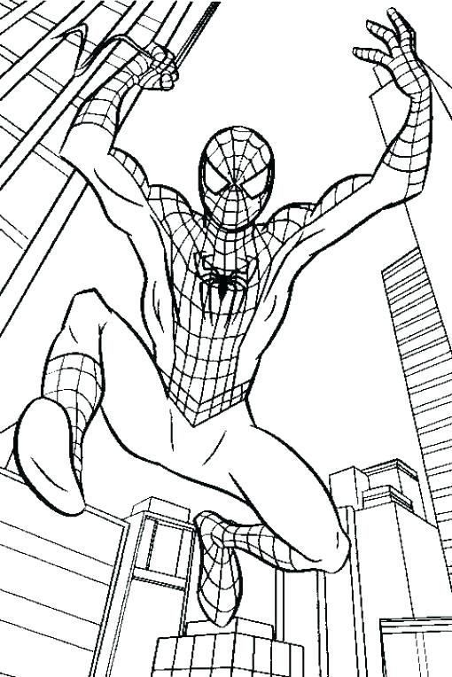 510x764 Spiderman Coloring Pages Coloring Sheets Coloring Pages Kids