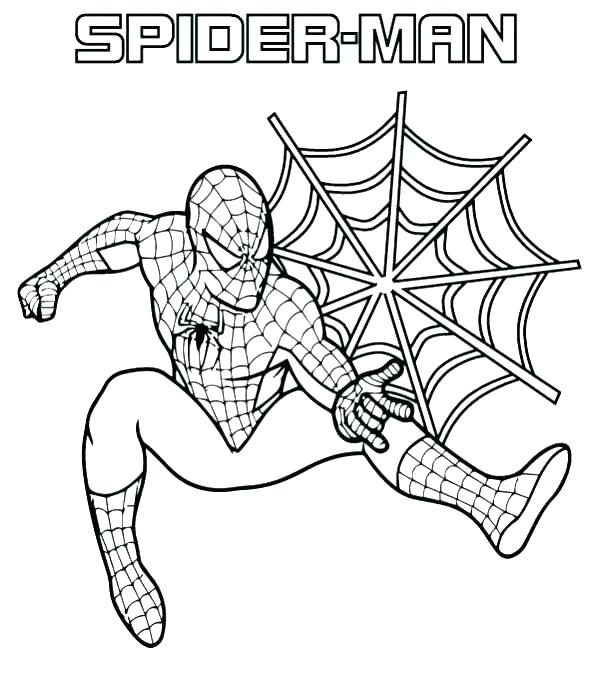 599x679 Spiderman Coloring Pages Free With Coloring Coloring Pages