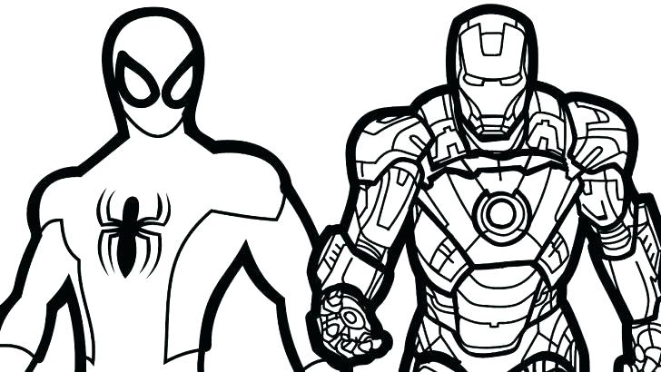 728x410 Iron Spider Coloring Pages Iron Spider Colouring Pages