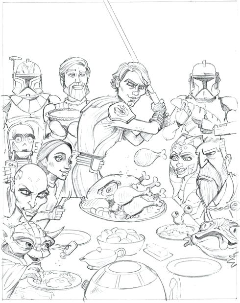 490x619 Star Wars Clone Wars Coloring Pages Star Wars The Clone Wars