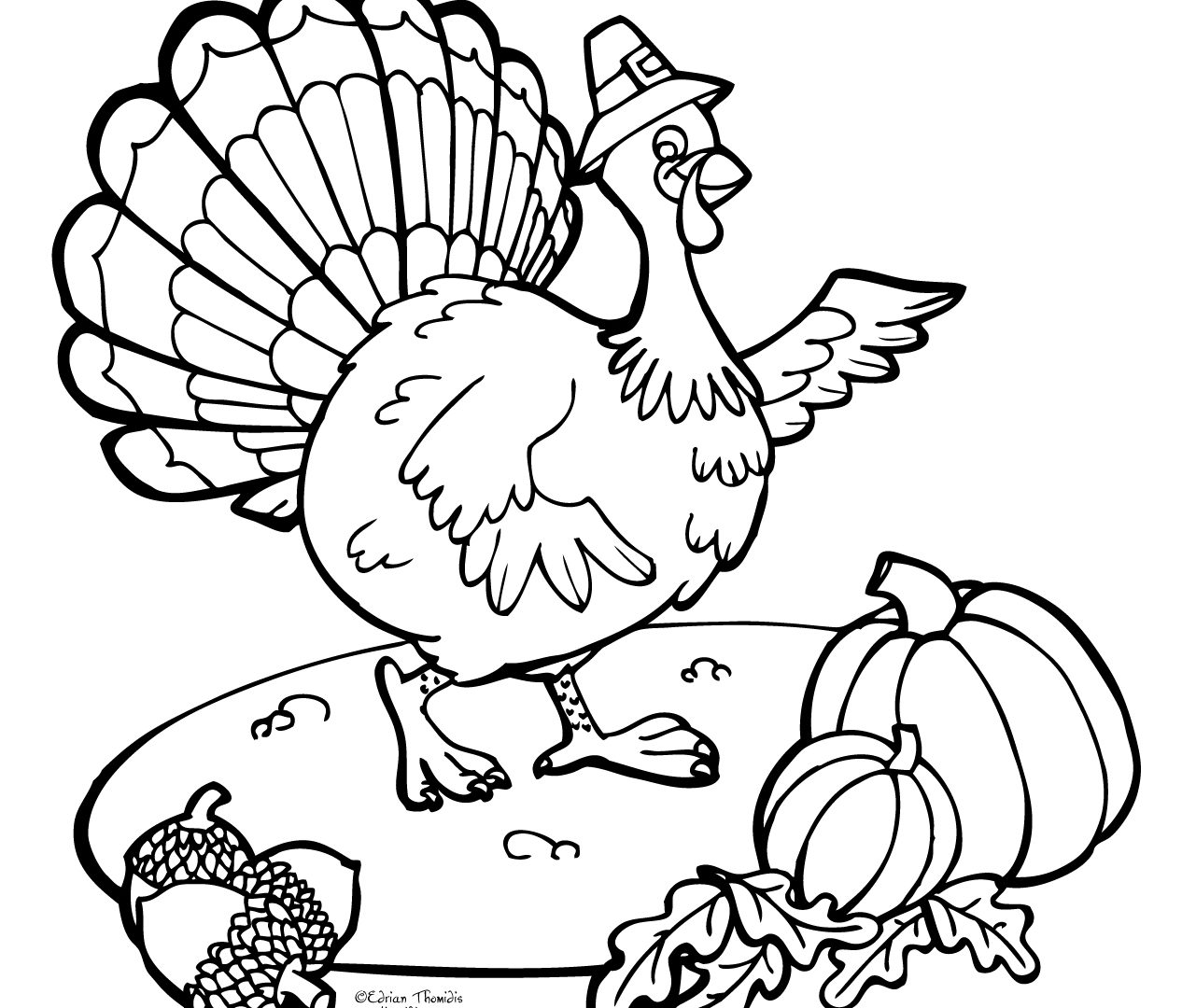 1266x1080 Free Turkey Printable Coloring Page Thanksgiving Pages