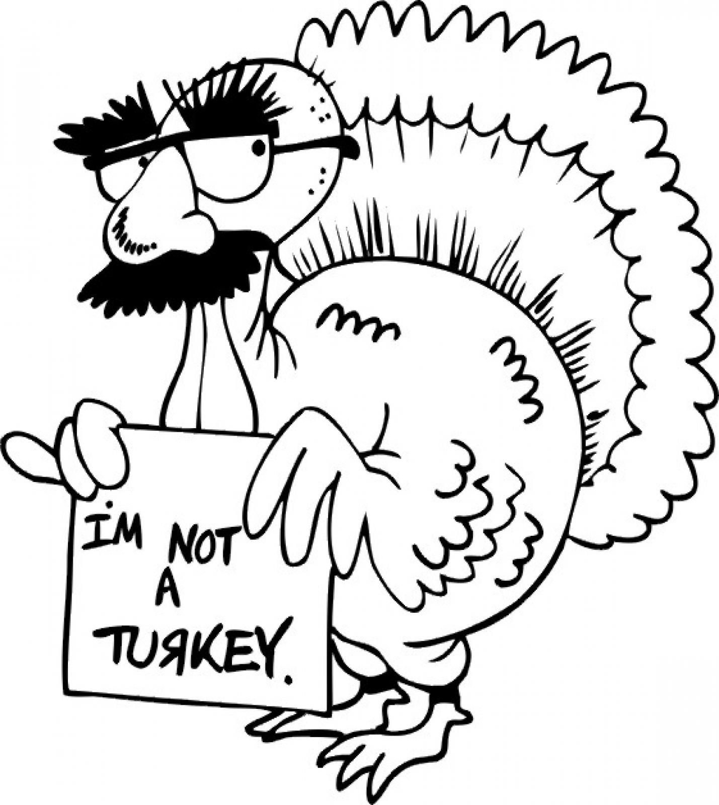 1429x1600 Funny Turkey Thanksgiving Coloring Pages