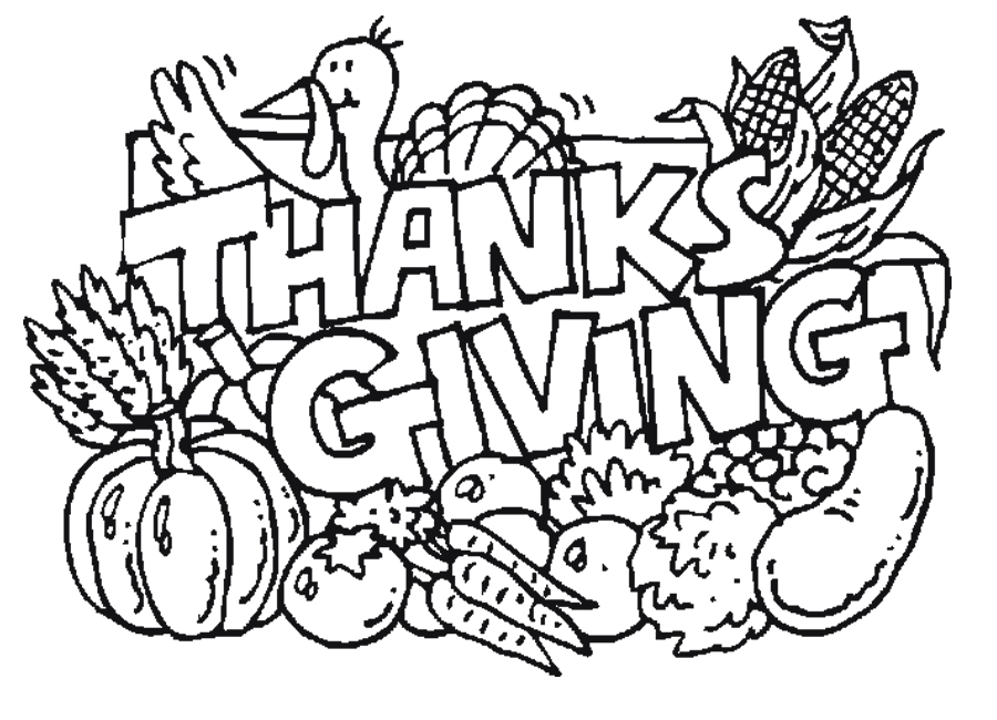 900x650 Kids Easy Thanksgiving Coloring Pages Printables Holidays