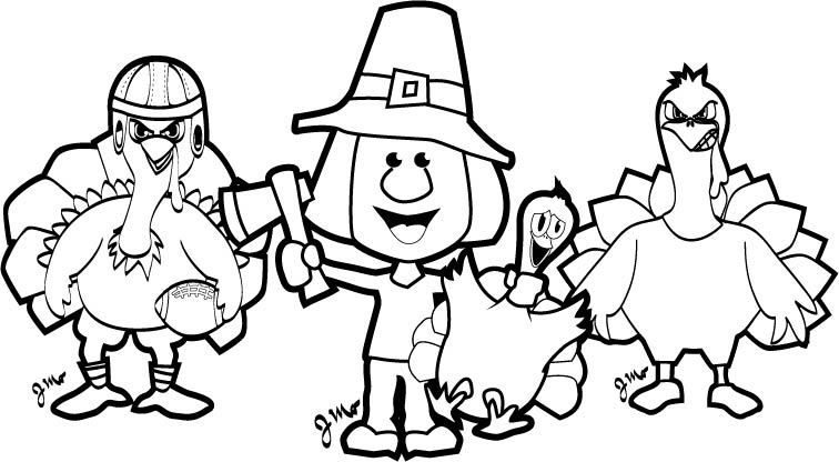 756x416 Thanksgiving Coloring Pages!! Skybacher's Locker