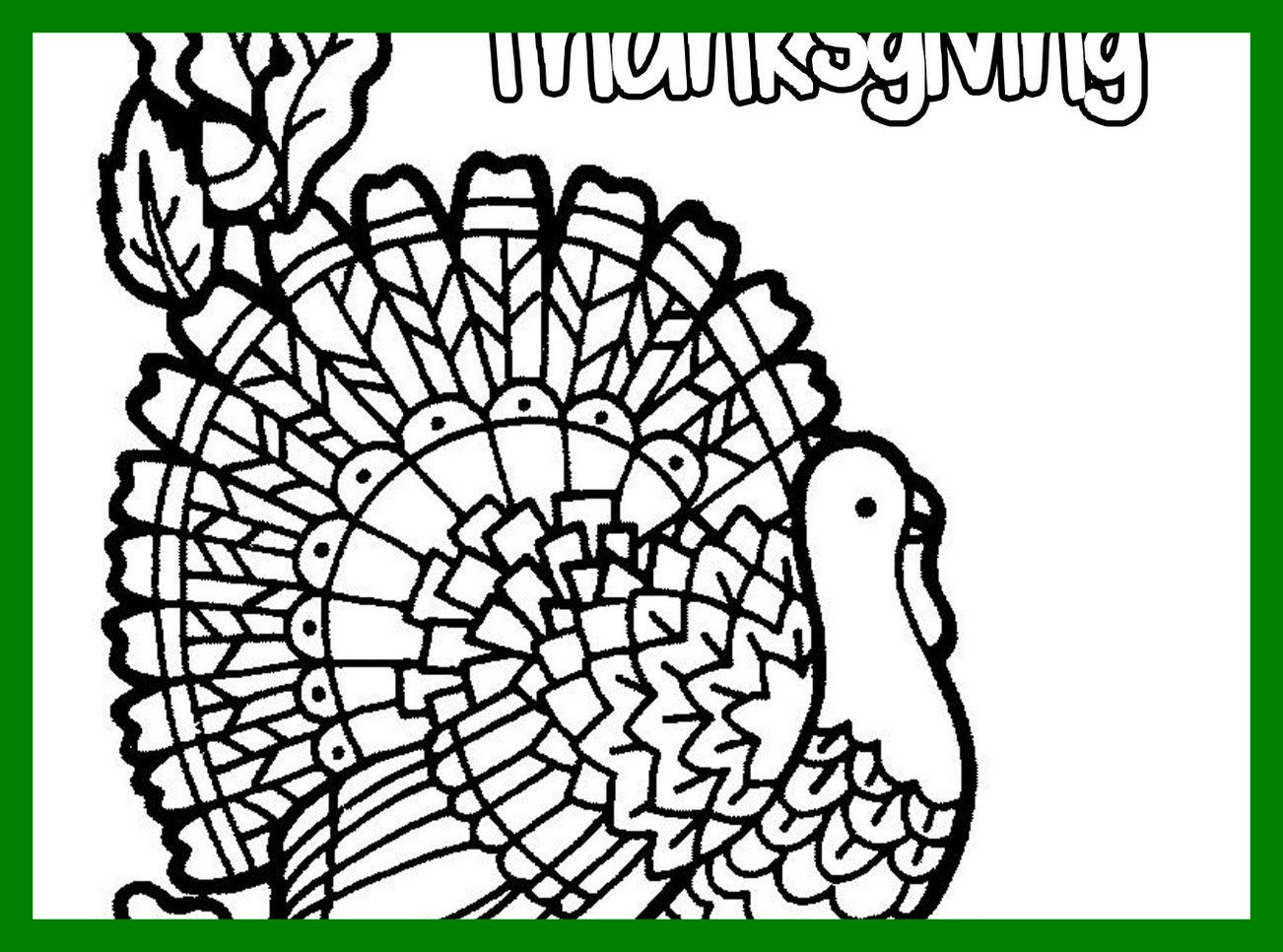 1302x966 The Best Color Page Turkey Printable Coloring Easy Thanksgiving