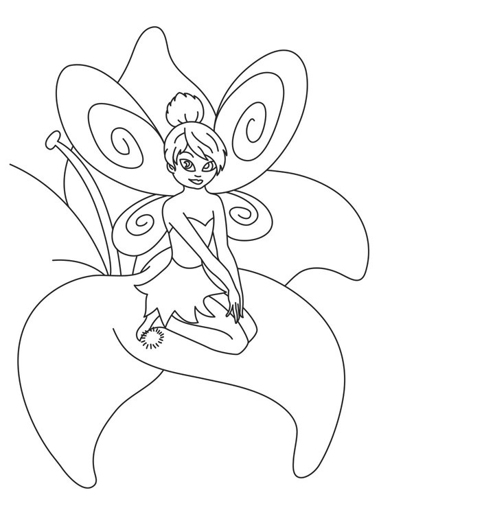 721x775 Free Printable Tinkerbell Coloring Pages For Kids