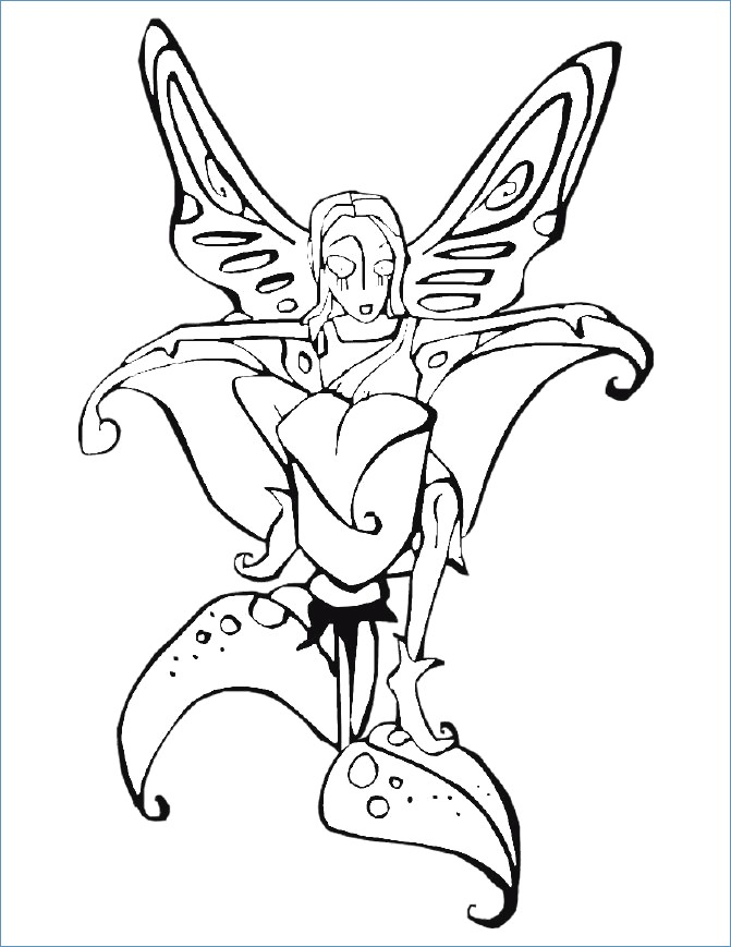 671x869 Gothic Tinkerbell Coloring Pages