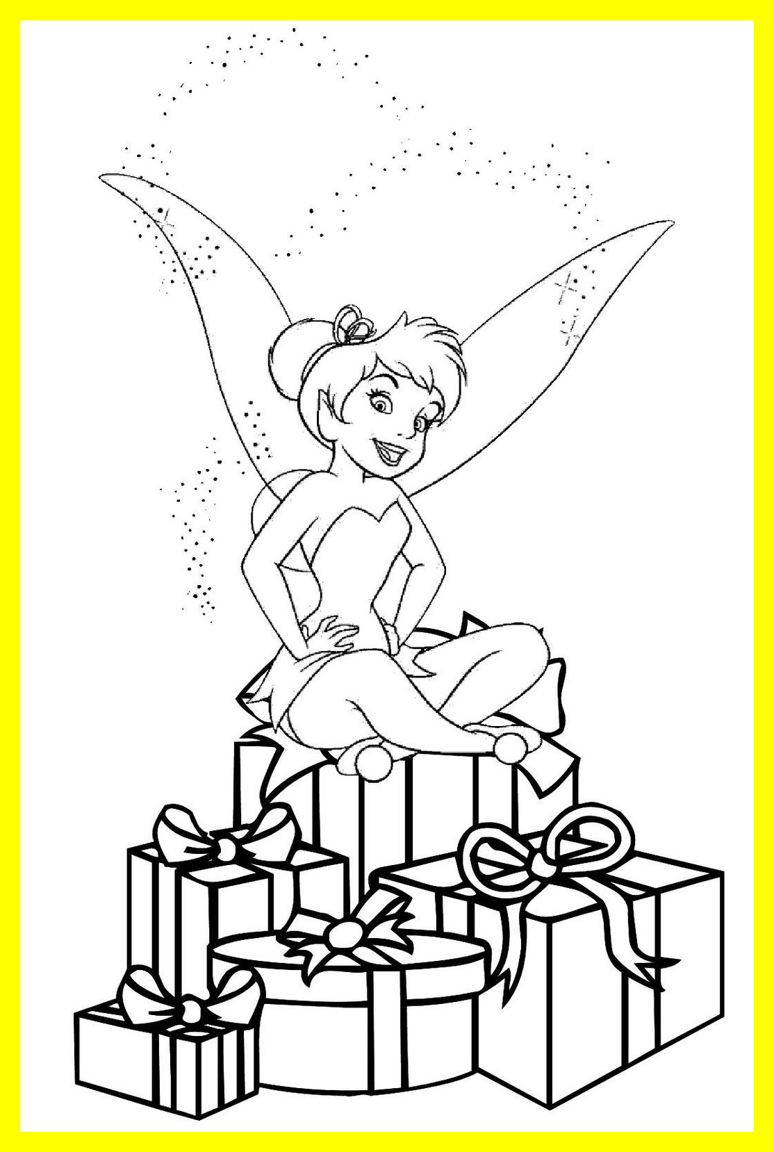 1114x1658 Inspiring Printable Tinkerbell Coloring Pages For Kids Pic