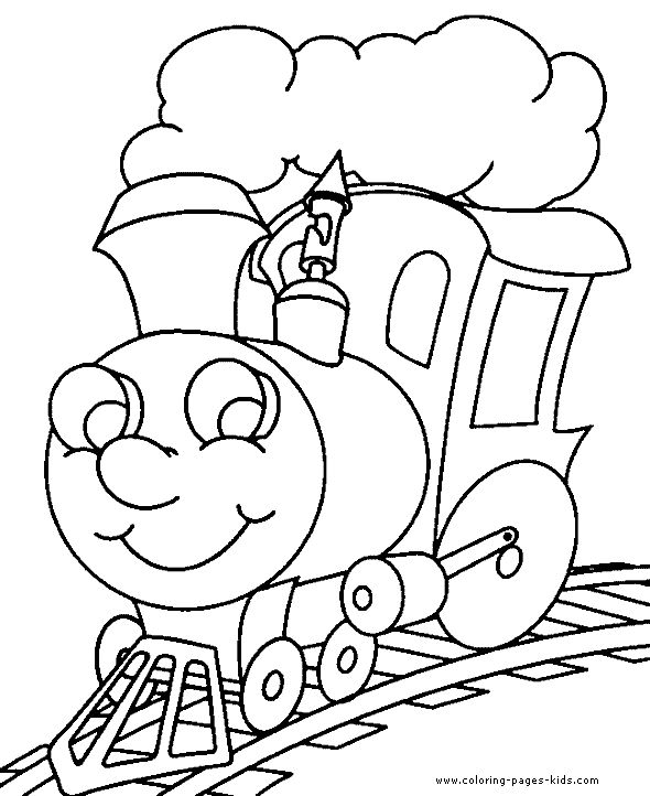 Easy Train Coloring Pages