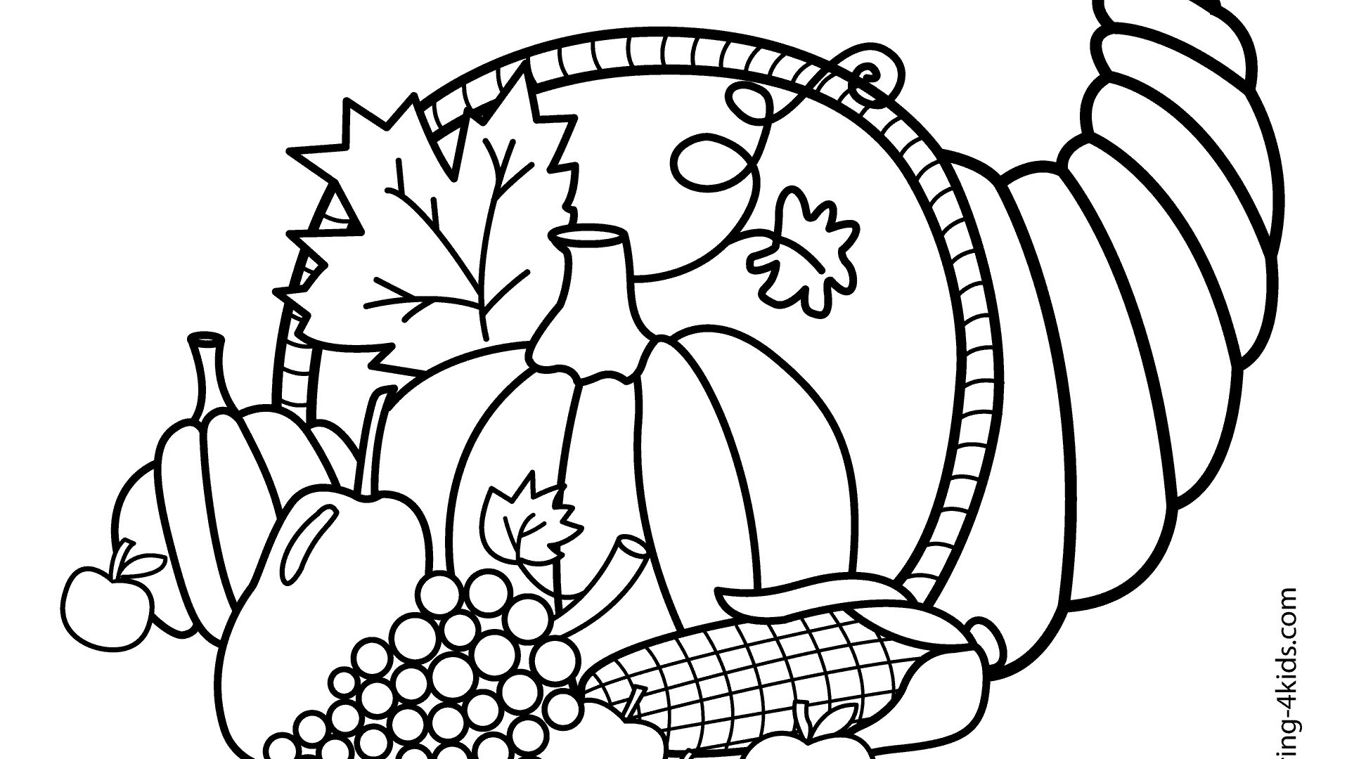 Easy Turkey Coloring Page