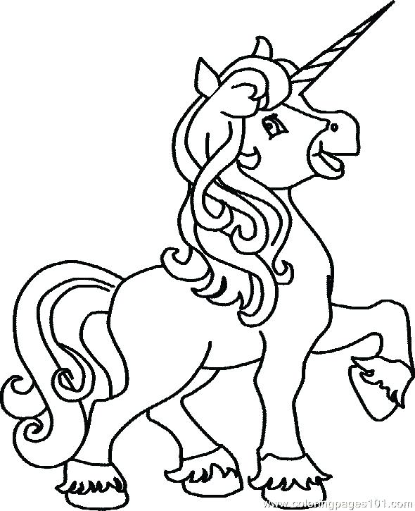 Easy Unicorn Coloring Pages at GetDrawings com | Free for