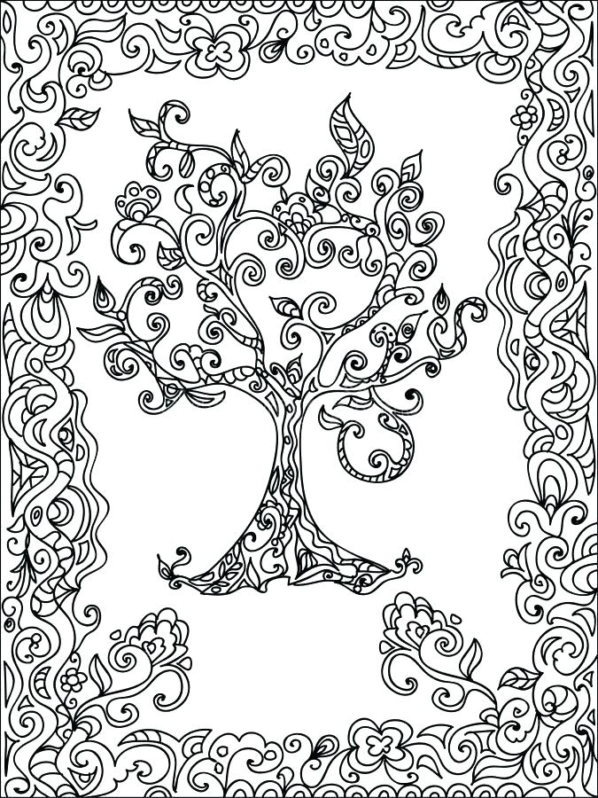 Easy Zentangle Coloring Pages at GetDrawings com | Free for