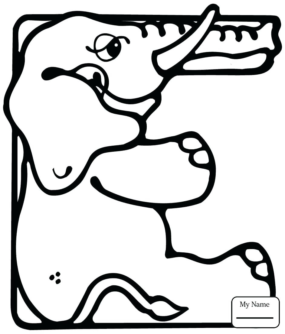 942x1105 Letter E Coloring Pages