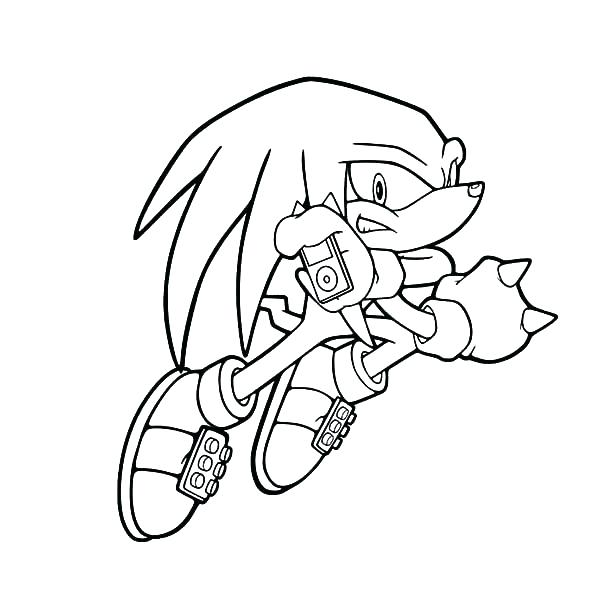 600x600 Knuckles Coloring Pages Knuckles The Echidna Coloring Pages