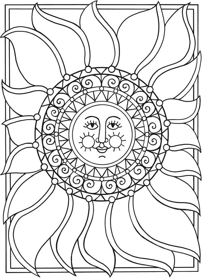 650x891 Elegant Solar Eclipse Coloring Page Coloring Ws