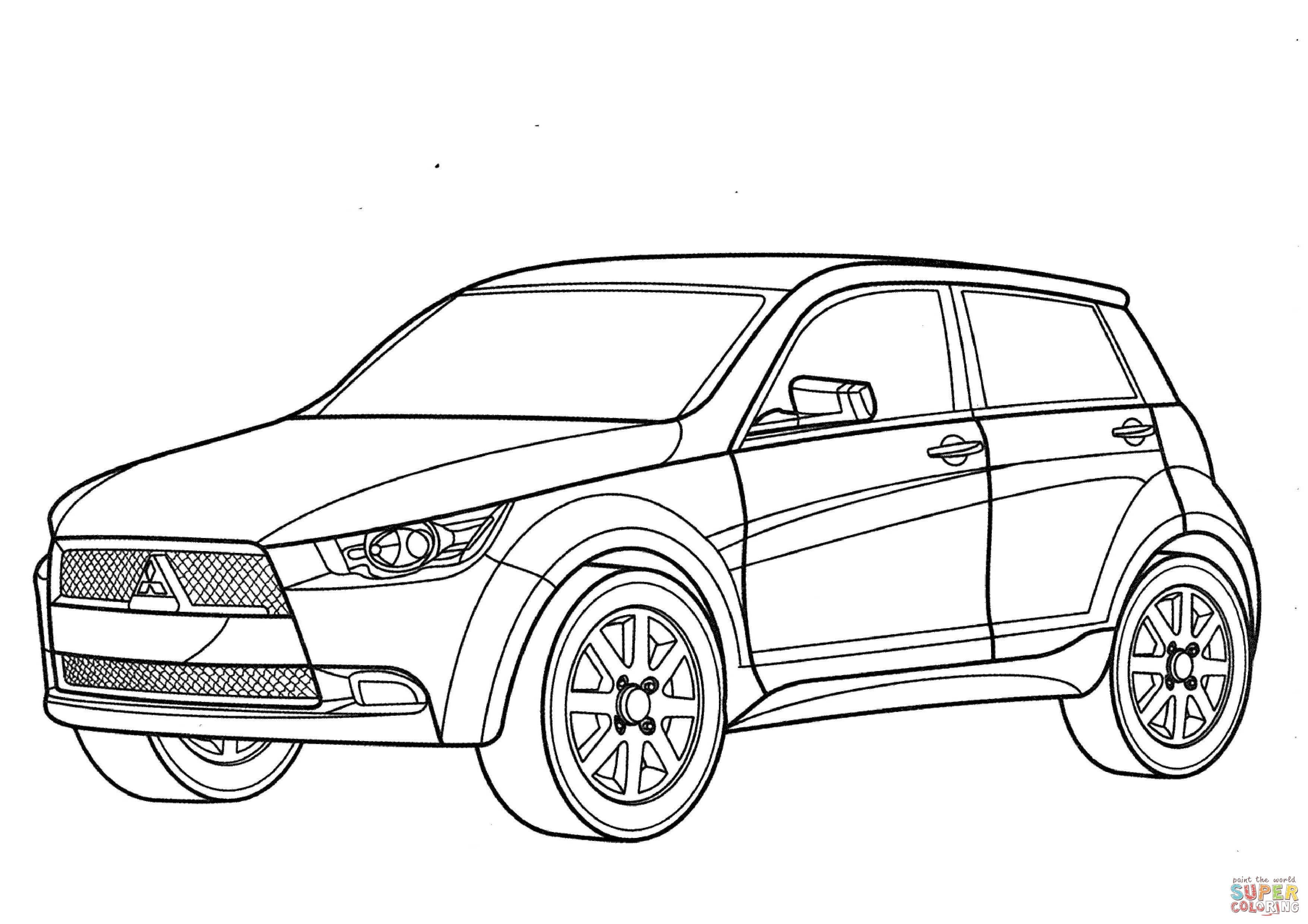 3508x2480 Mitsubishi Eclipse Spyder Gt Coloring Page Free Pajero And Other