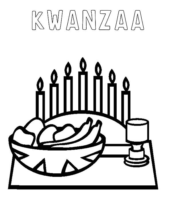 600x776 Kwanzaa Coloring Pages Free Celebrations Coloring