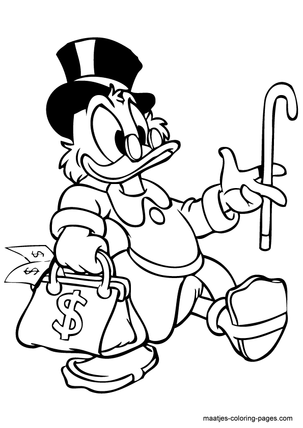 595x842 Scrooge Mcduck Coloring Pages Economics Scrooge