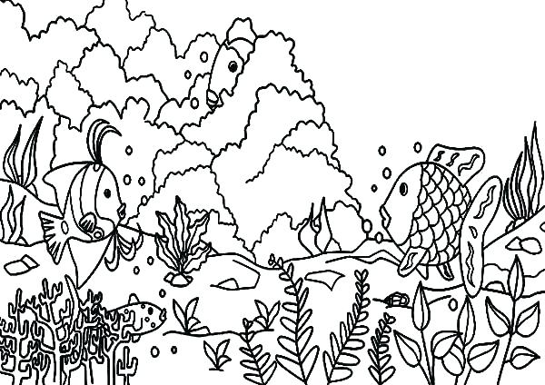 600x424 Ocean Coral Reef Coloring Pages Coral Reef Coloring Page Coloring