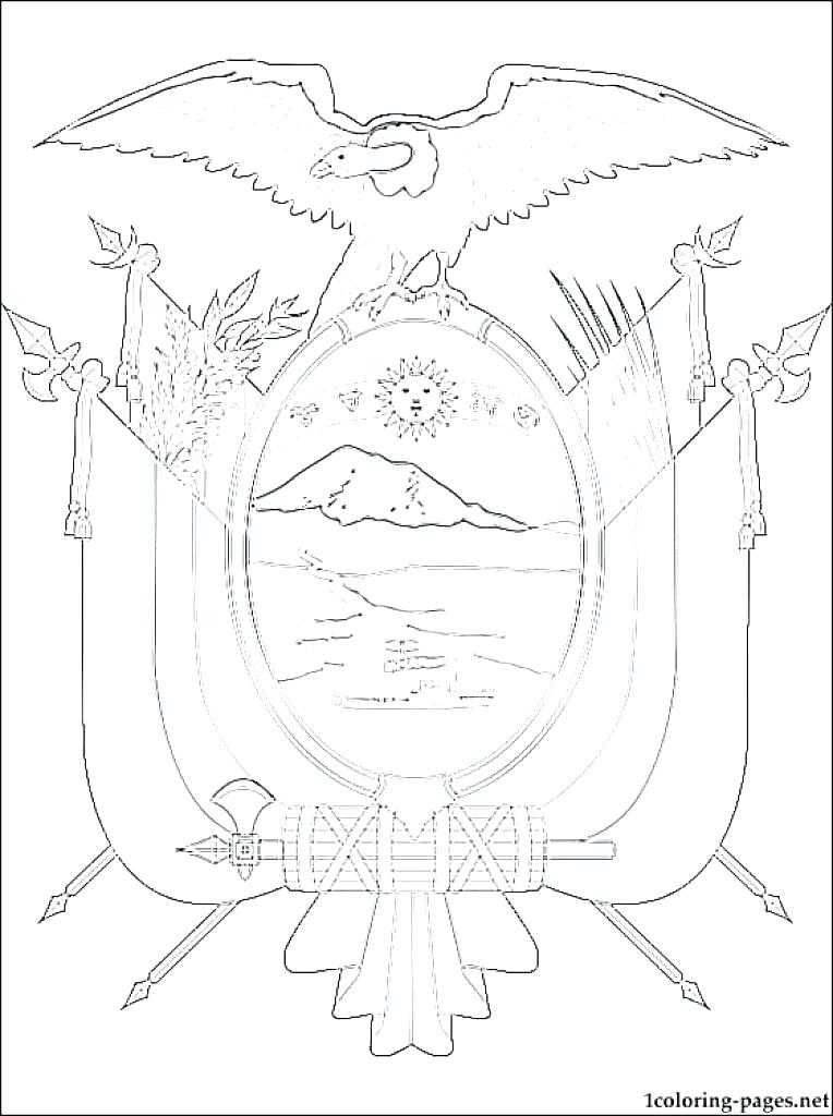 764x1024 Ecuador Flag Colouring Page Of Coloring Coat Arms Pages Within Pag