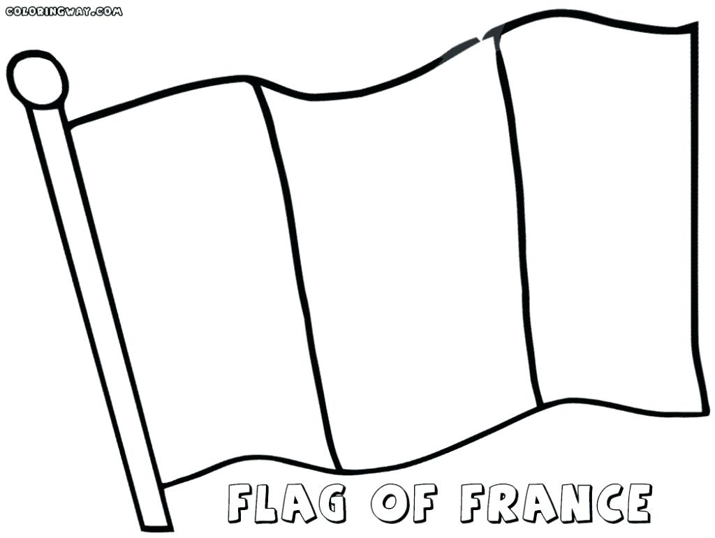 1024x771 Expert French Flag To Colour Impressive Coloring Page