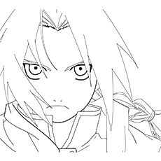 230x230 Edward Elric On Anime Coloring Pages