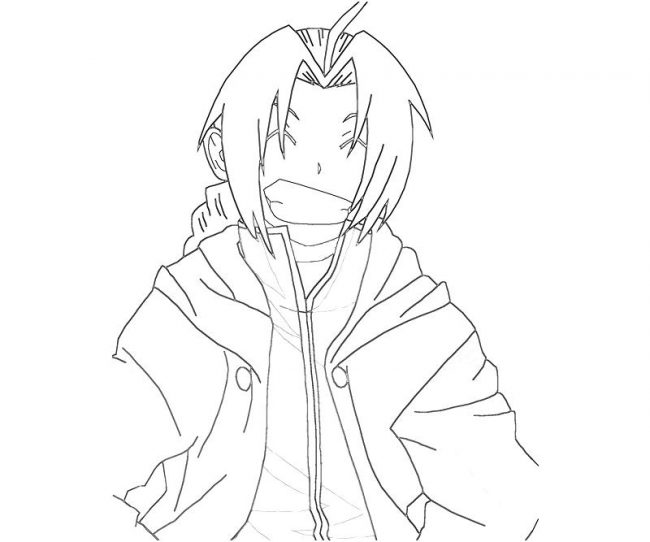 650x542 Edward Elric Coloring Pages Nice Coloring Pages For Kids