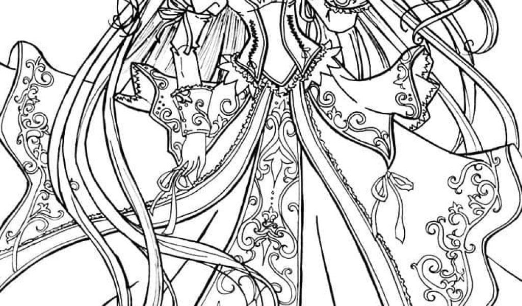 1024x600 Anime Princess Coloring Pages On Anime Coloring Pages