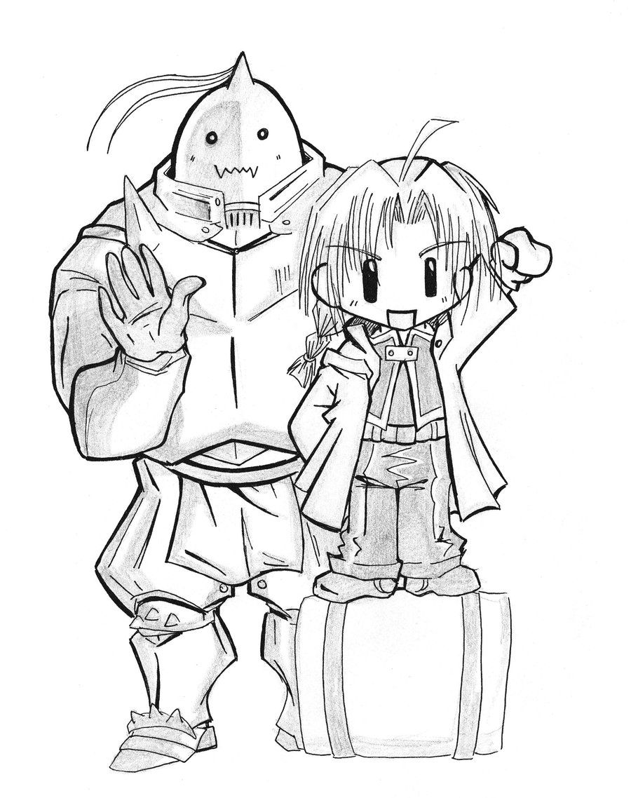 900x1138 Chibi Ed And Al Of Fma