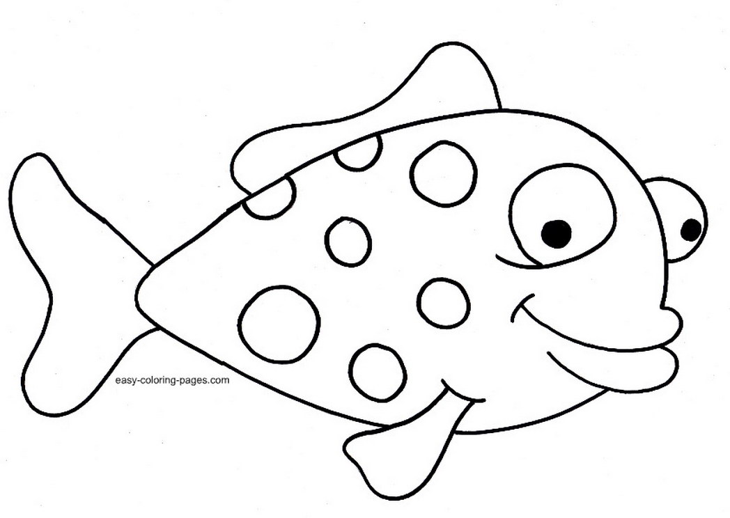 1048x744 Fish Coloring Page Coloring Pages For Free
