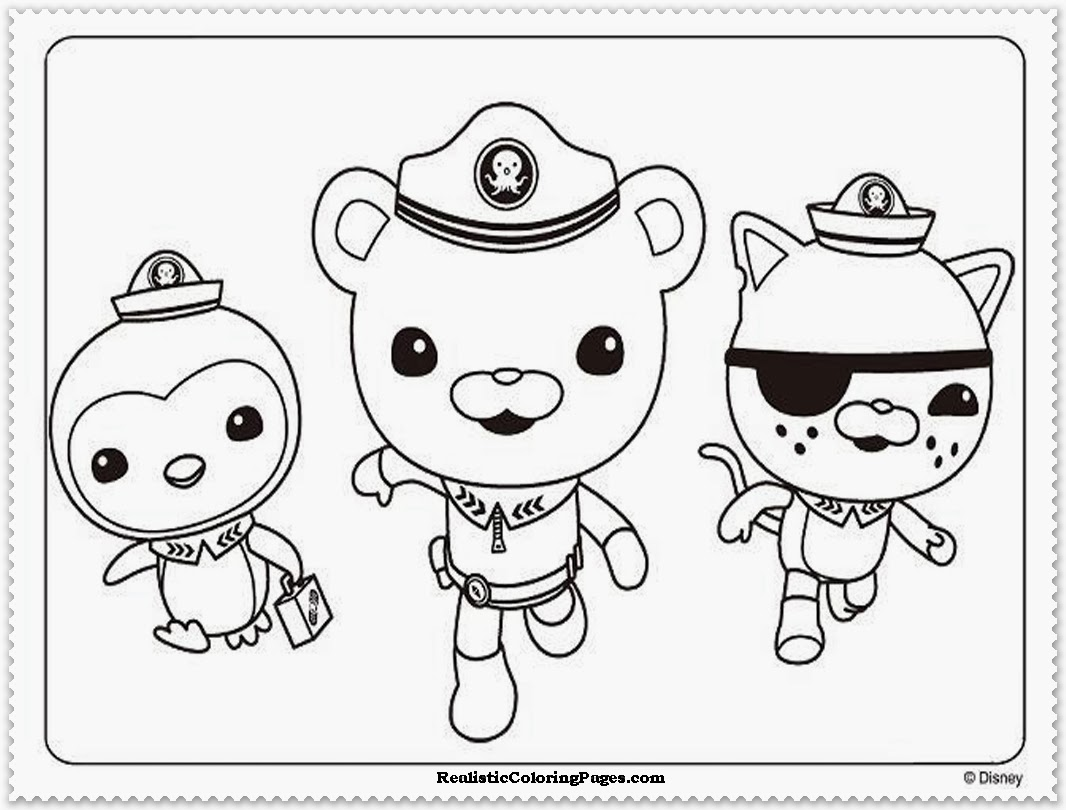 1066x810 Coloring Pages To Print Octonauts Inside Octonaut