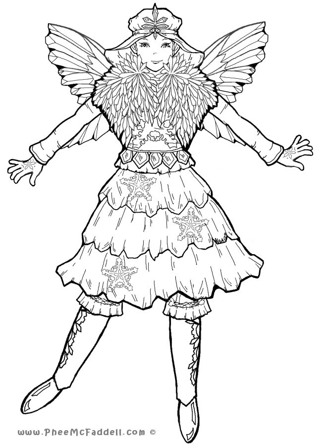 650x900 Free Coloring Pages Mystical Fairies