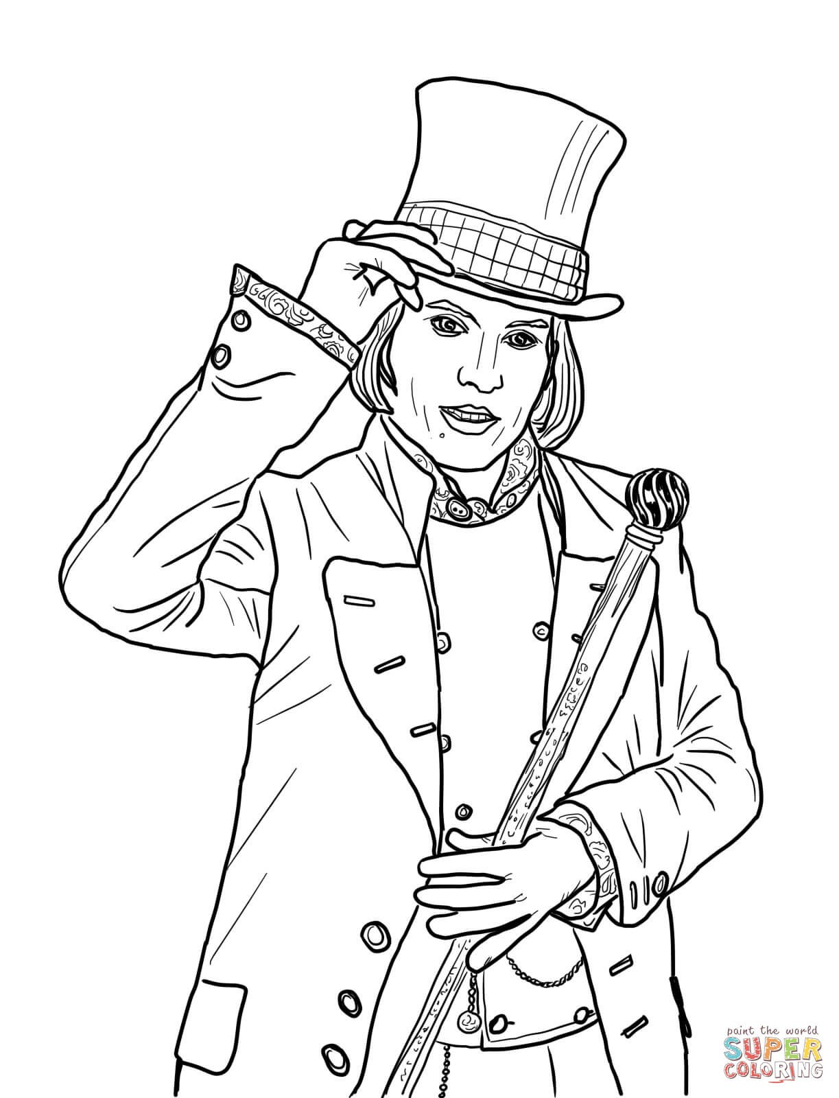 1223x1600 Johnny Depp Coloring Pages For Kids