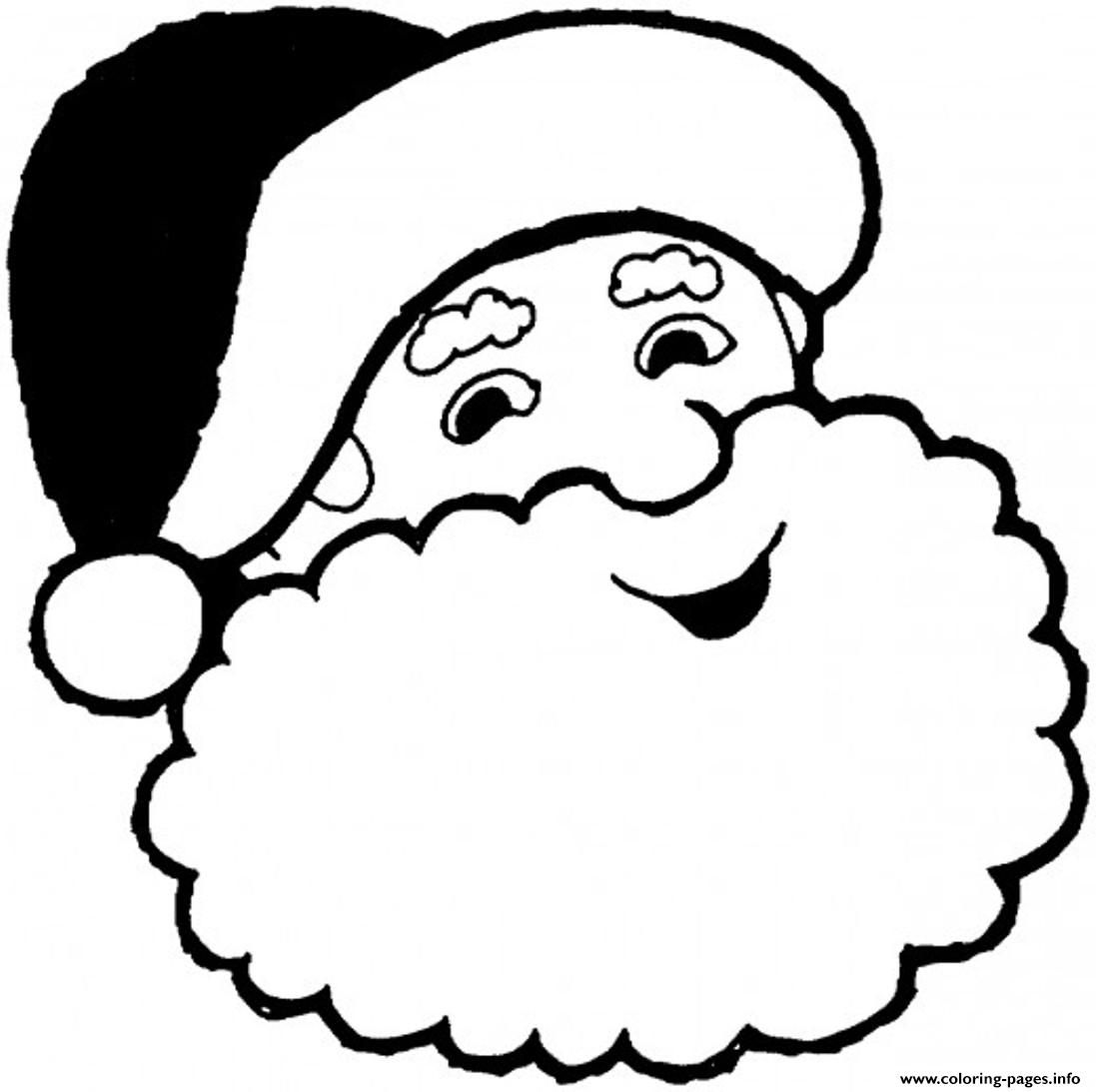 1097x1093 Print Smiling Santa Claus Coloring Pages Free Christmas